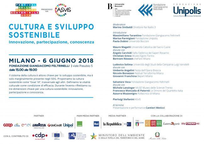 Cultura e sviluppo sostenibile_Milano 6 giugno